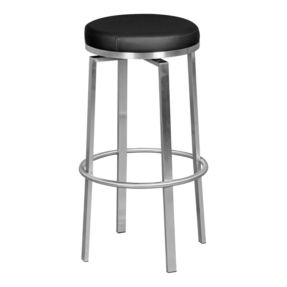 Barová židle Egon, černá / nerez