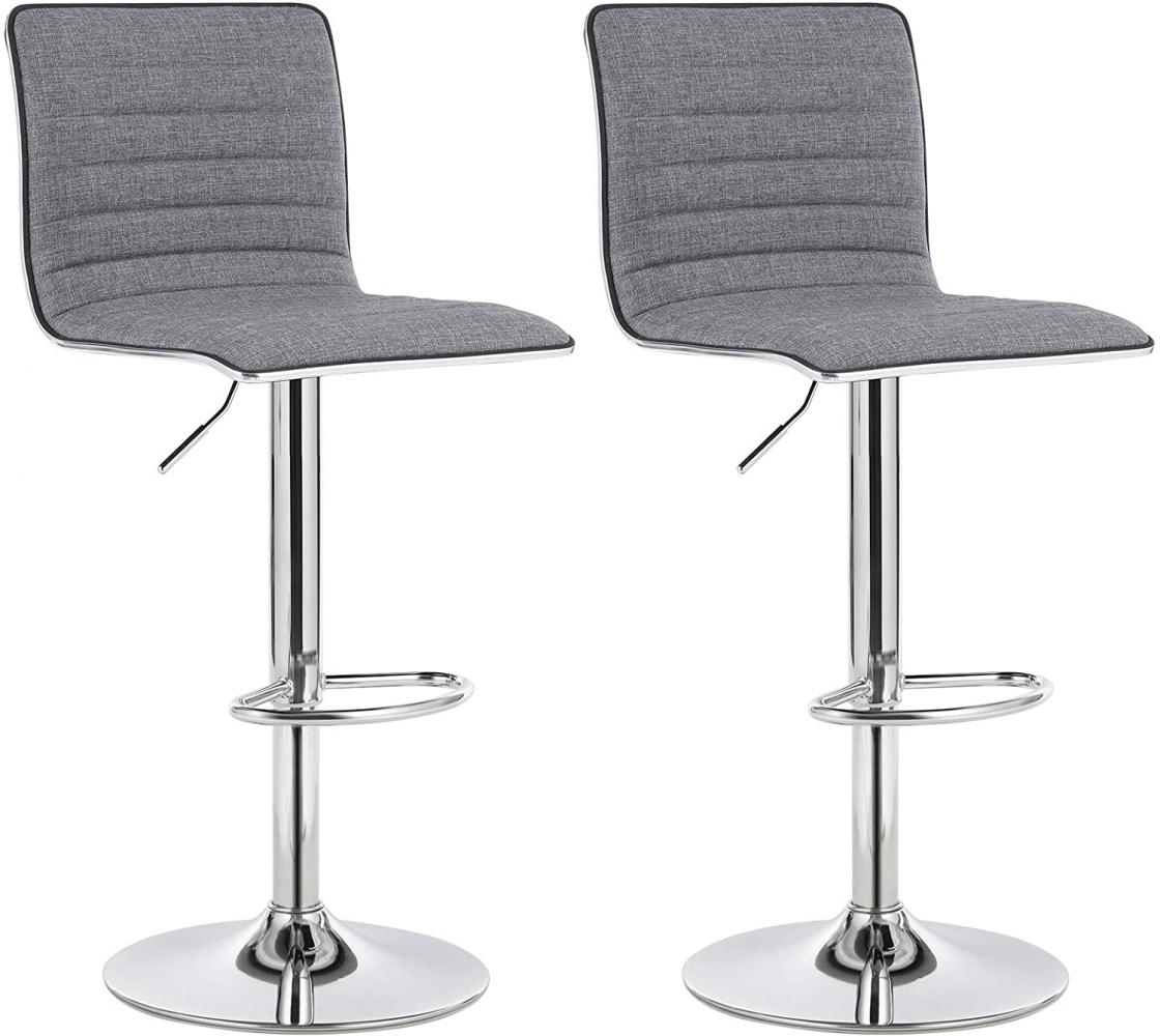 Barová židle Elle (SET 2 ks), šedá