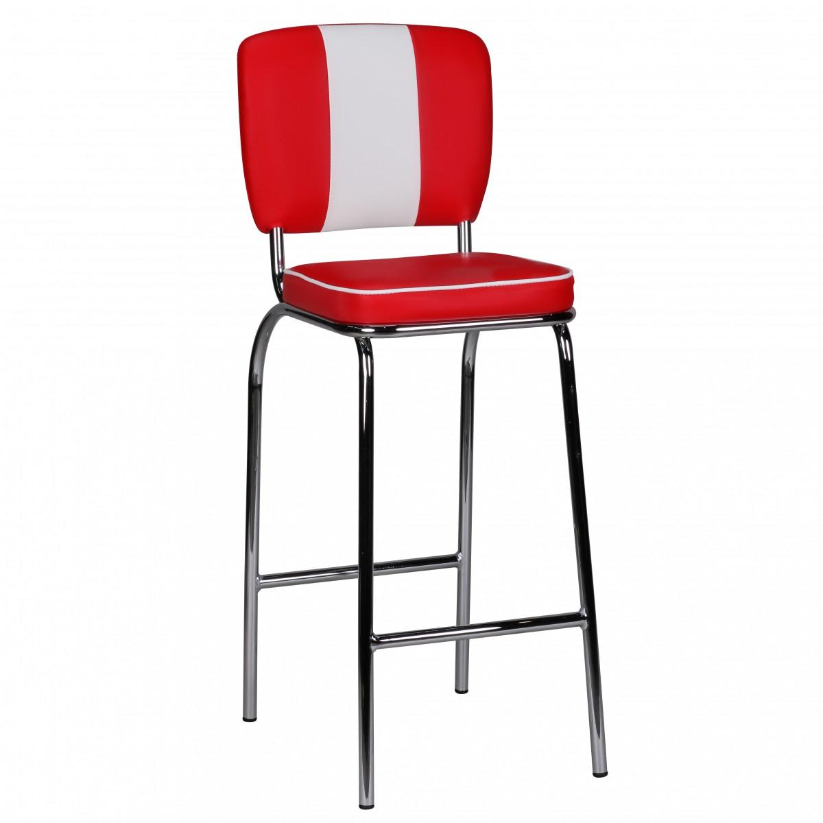 Barová židle Elvis, červená