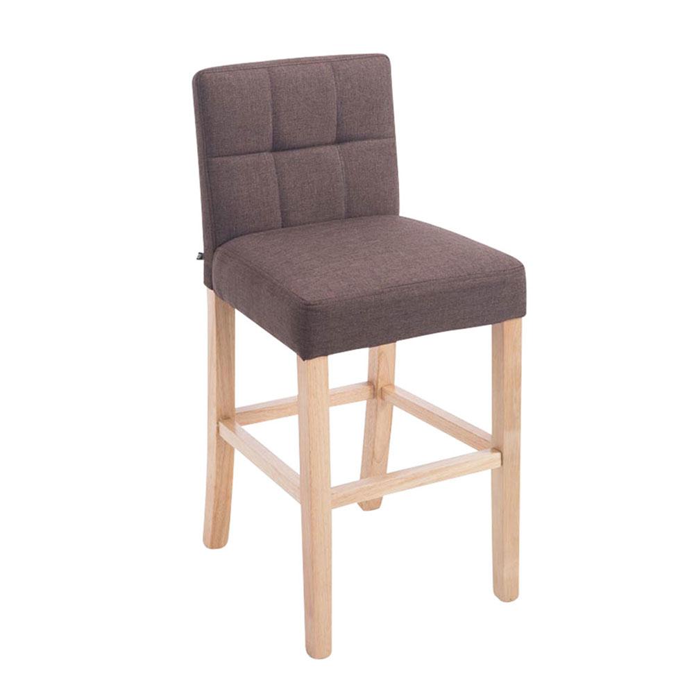 Barová židle Emanuel textil, hnědá