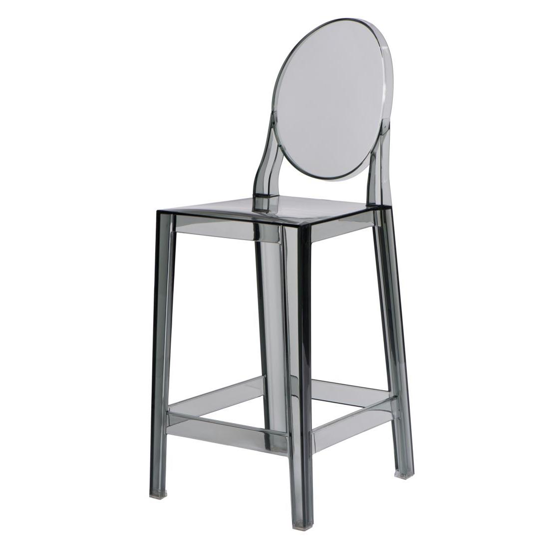 Barová židle Falde, transparentní šedá