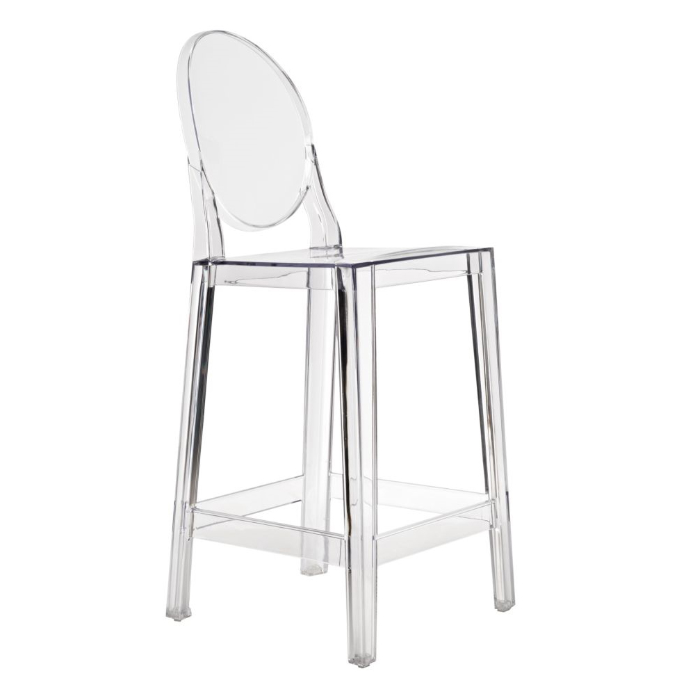 Barová židle Falde, transparentní