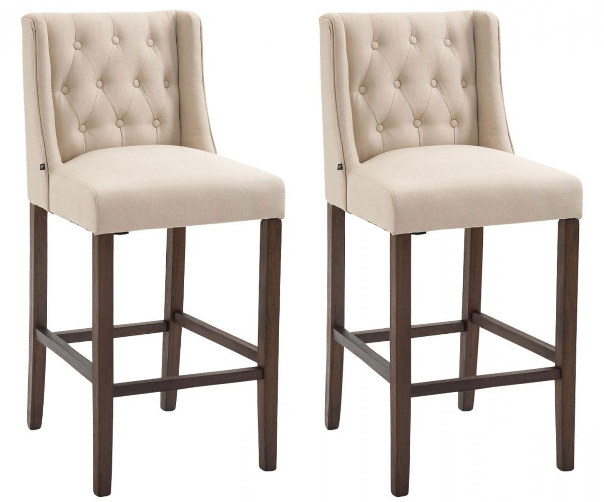 Barová židle Fergie (SET 2 ks), krémová / hnědá