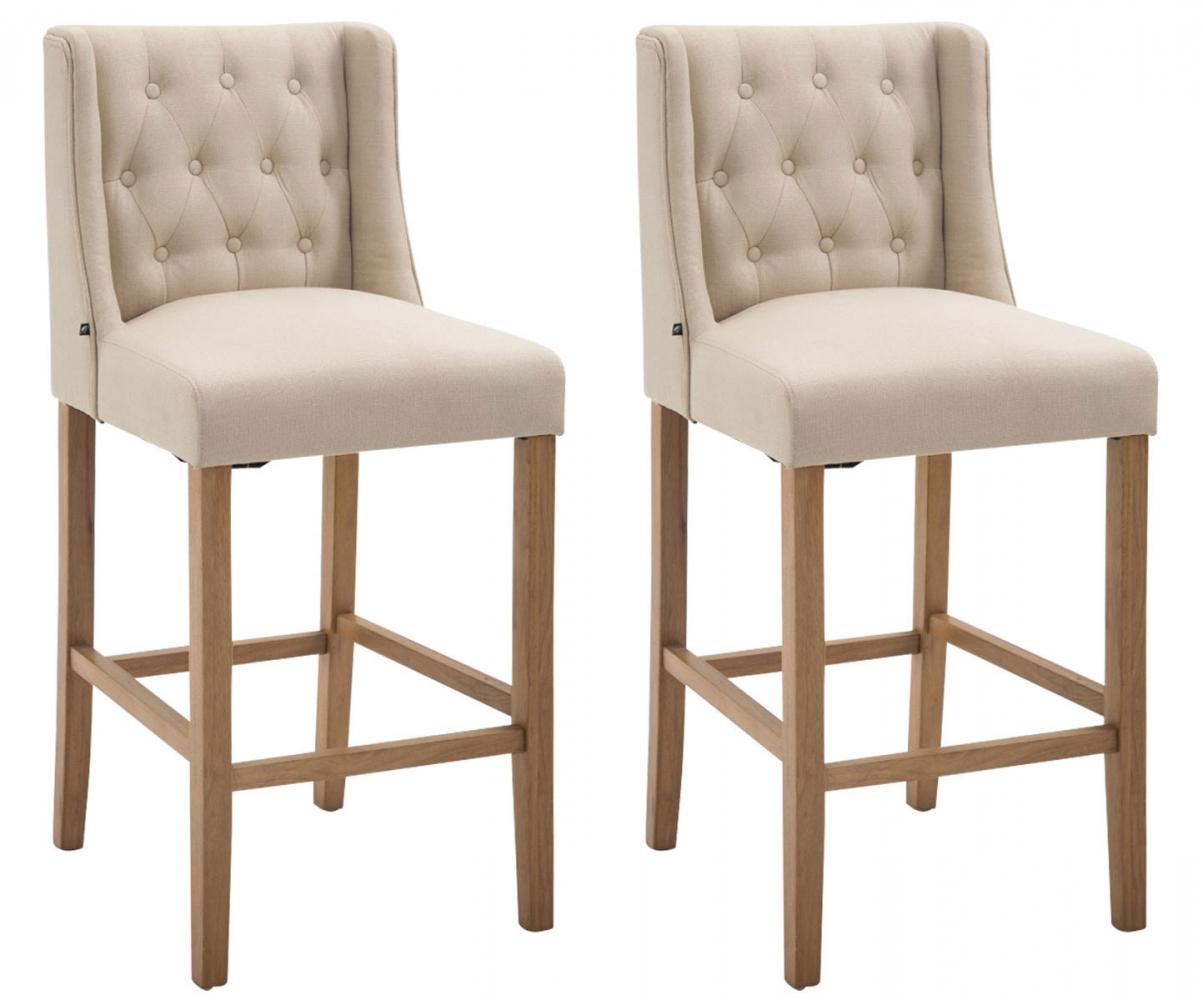 Barová židle Fergie (SET 2 ks), krémová