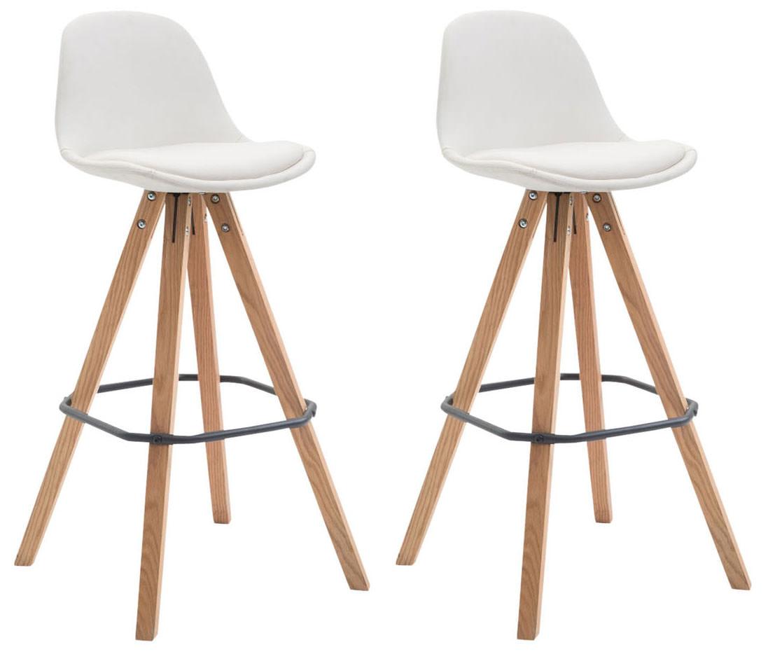 Barová židle Franck (SET 2 ks), bílá