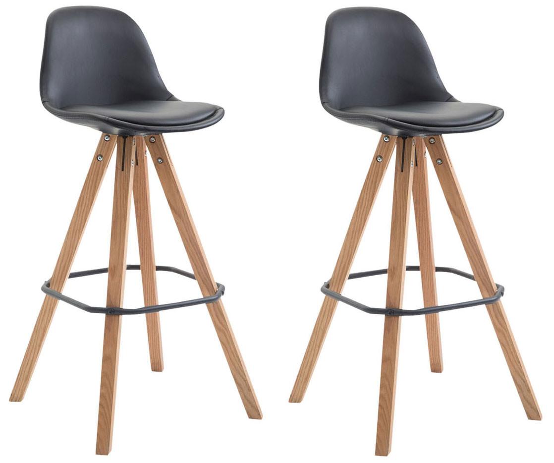 Barová židle Franck (SET 2 ks), černá