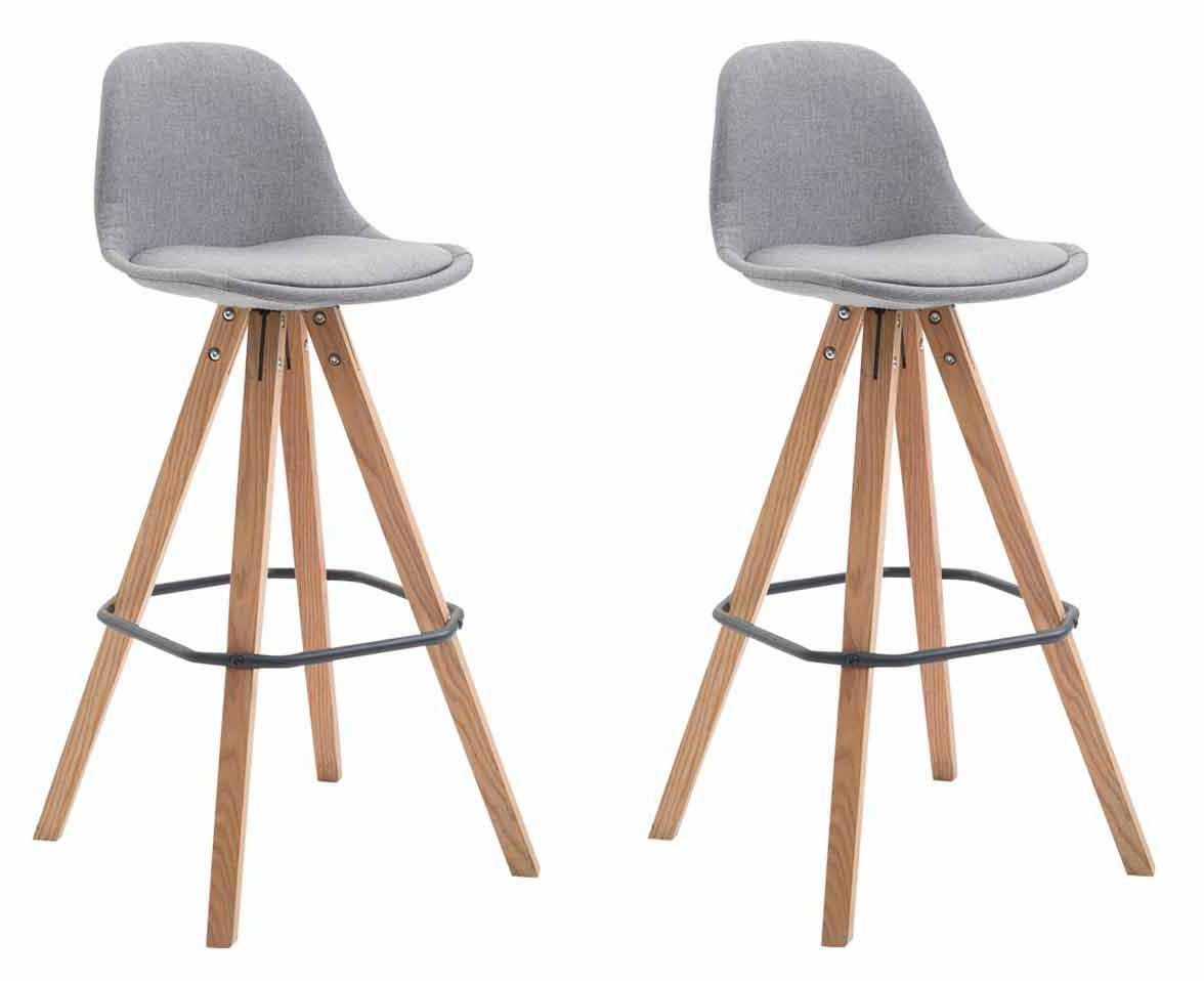 Barová židle Franck (SET 2 ks), šedá