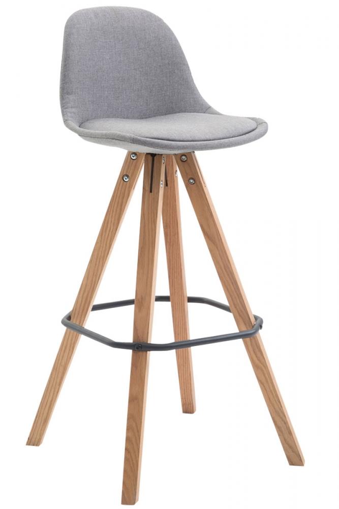Barová židle Frank I., textilní látka, šedá