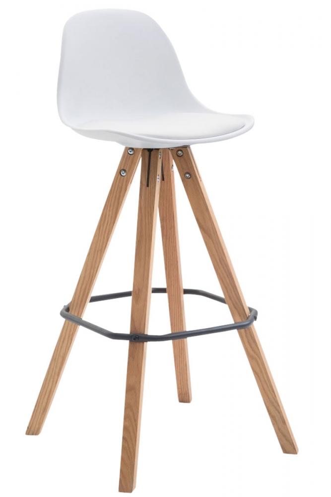 Barová židle Frank, syntetická kůže, bílá