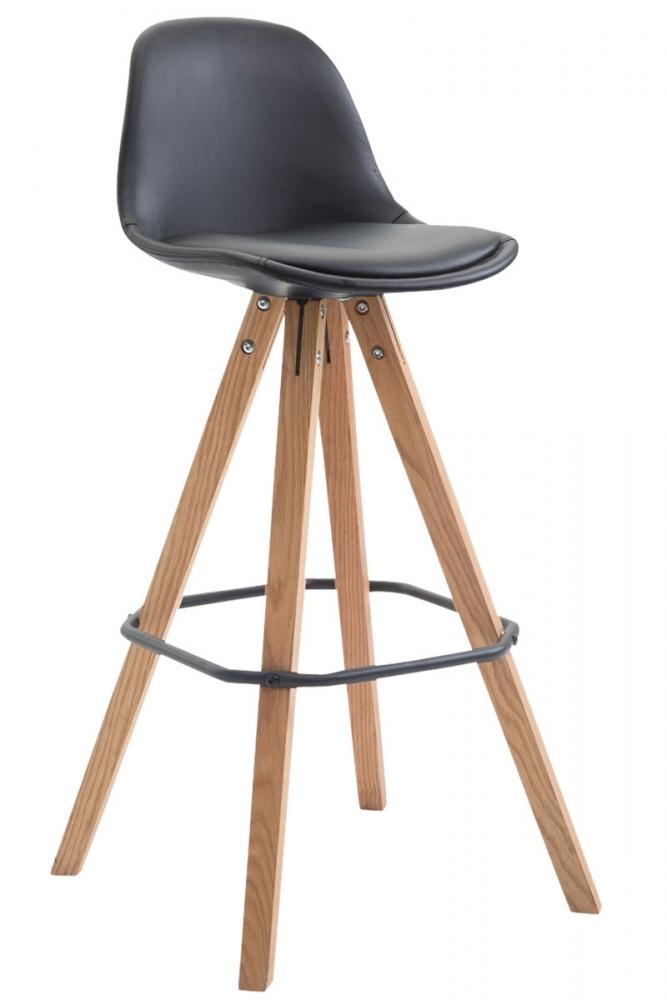 Barová židle Frank, syntetická kůže, černá