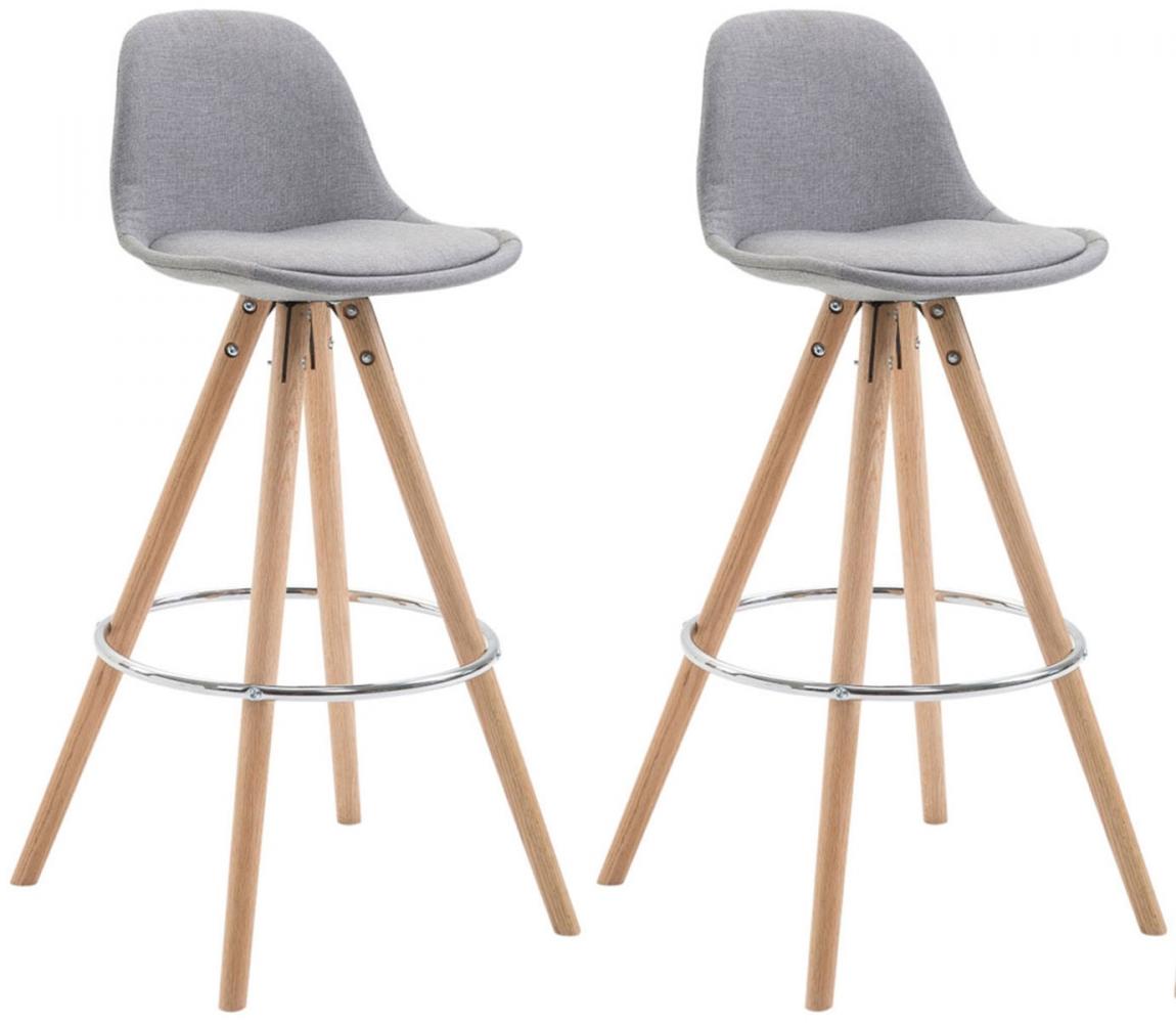 Barová židle Frankie (SET 2 ks), šedá