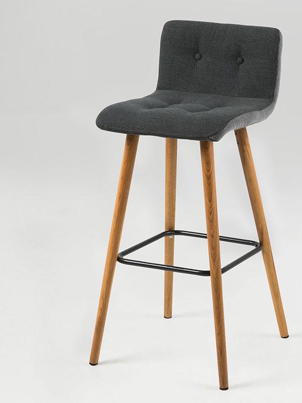 Barová židle Fredy (SET 2 ks), tm. šedá