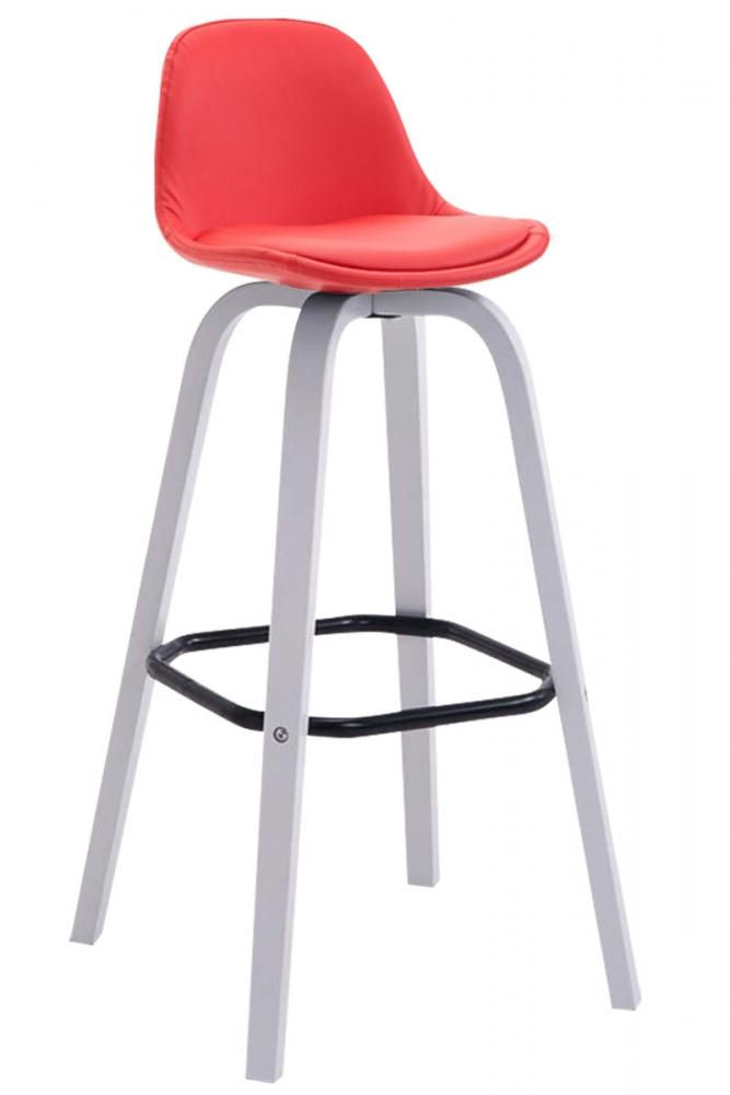 Barová židle Frencis, červená / bílá
