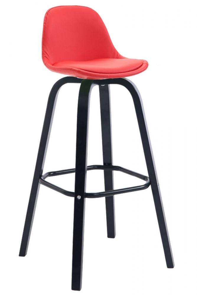 Barová židle Frencis, červená / černá