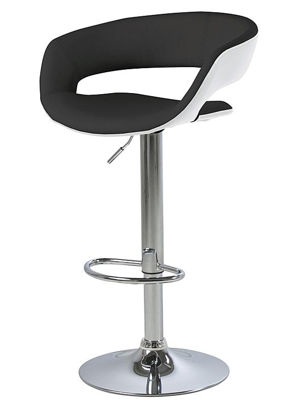 Barová židle Garry (SET 2 ks) bílá / černá