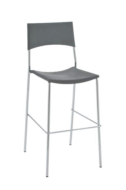 Barová židle Gena, šedá