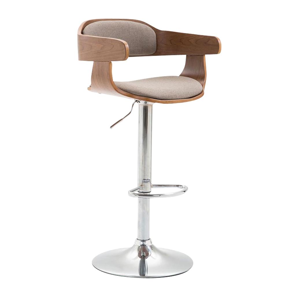 Barová židle Gota textil, ořech
