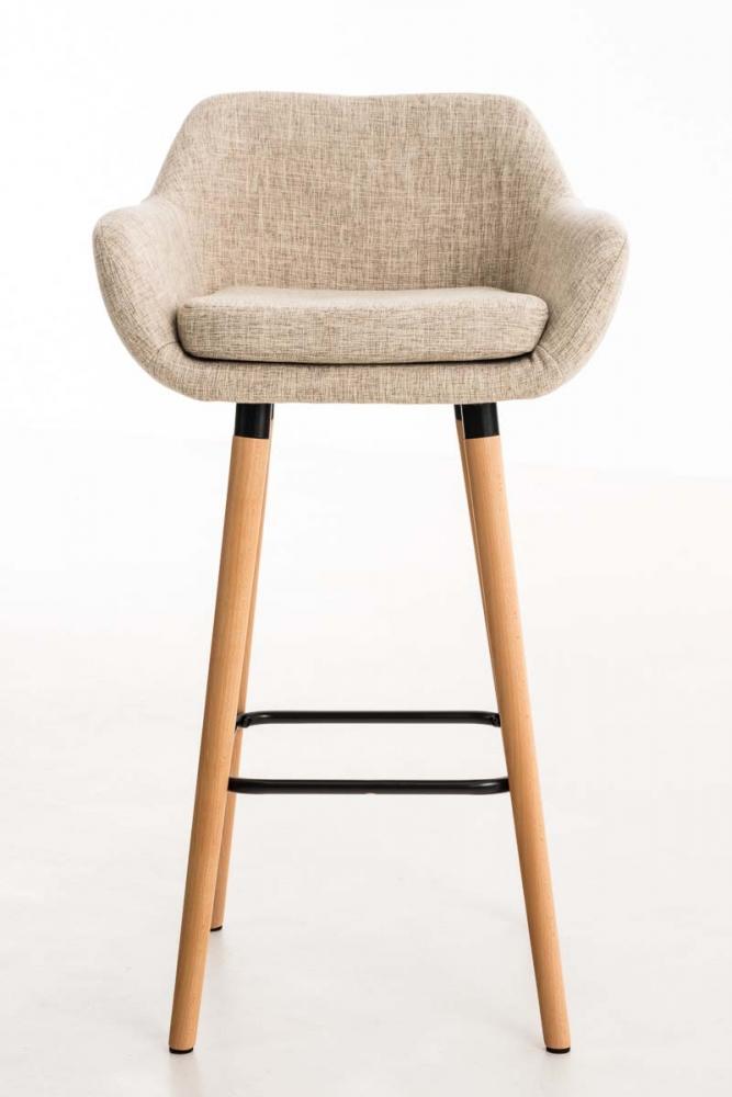 Barová židle Grane (SET 2 ks), krémová