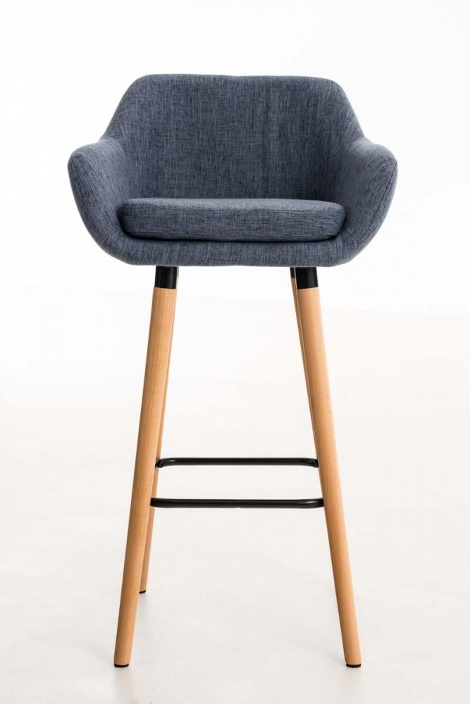 Barová židle Grane (SET 2 ks), modrá