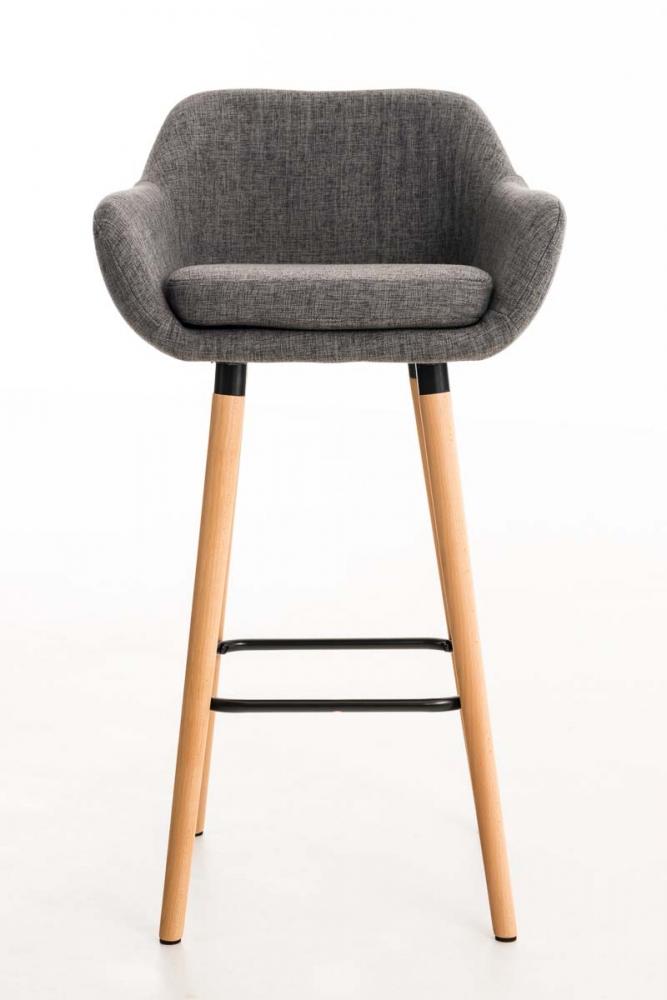 Barová židle Grane (SET 2 ks), světle šedá
