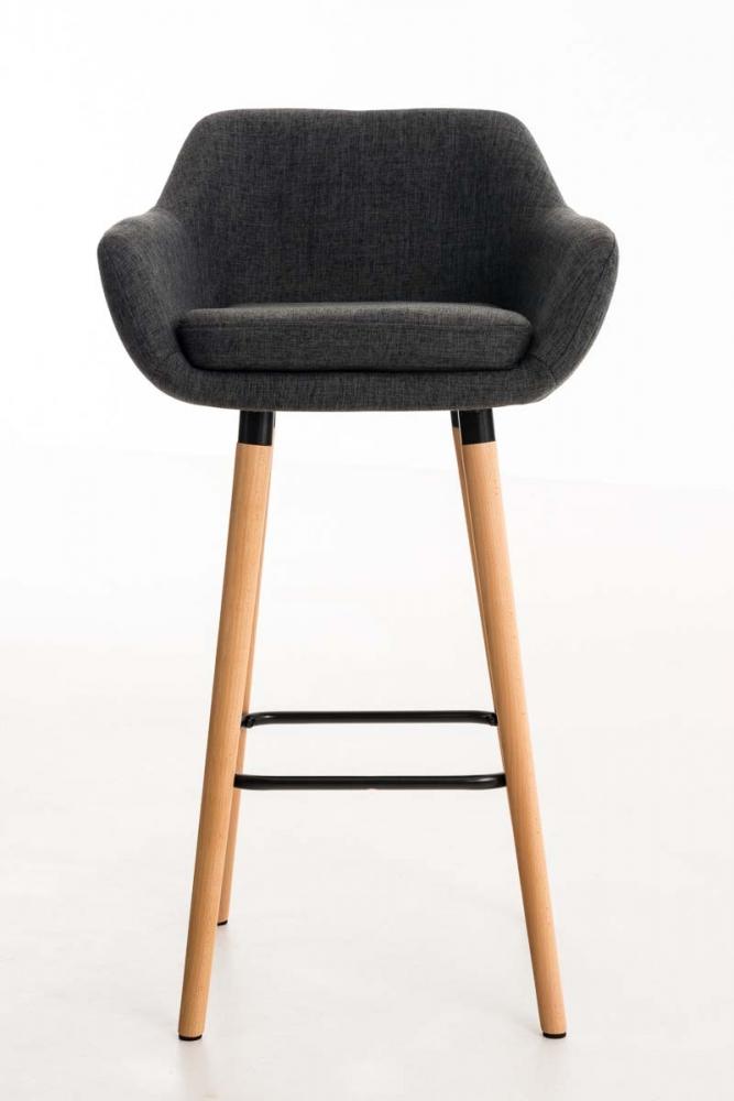 Barová židle Grane (SET 2 ks), tmavě šedá
