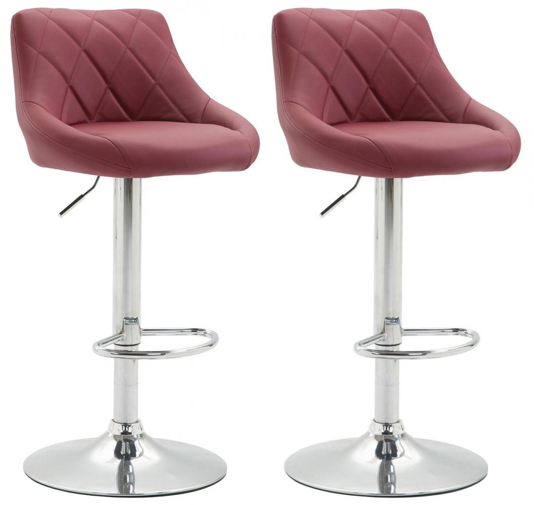 Barová židle Greny (SET 2 ks), červenohnědá