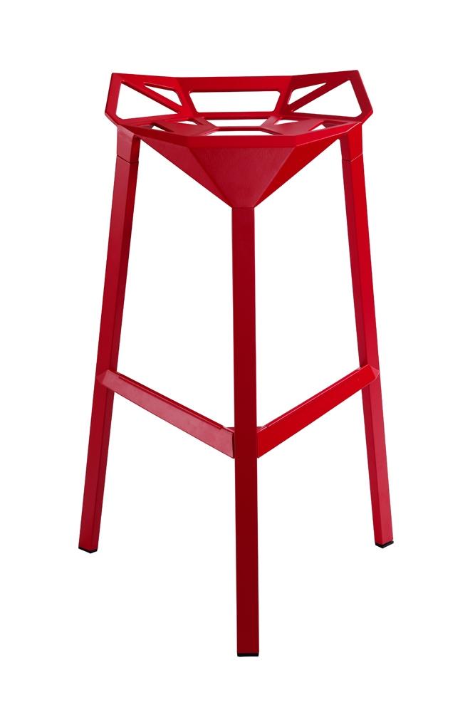Barová židle Halet, červená