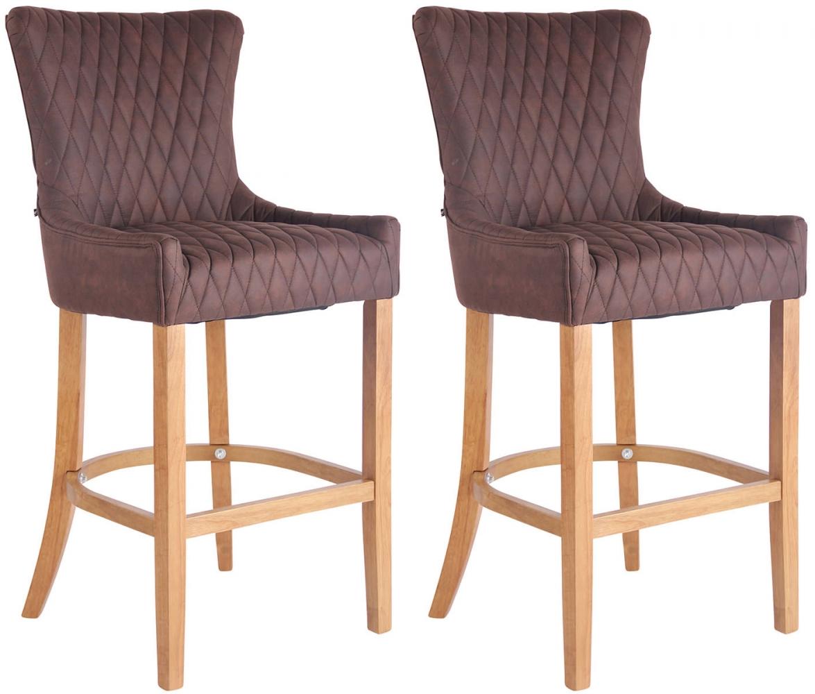 Barová židle Hanoi (SET 2 ks), tmavě hnědá