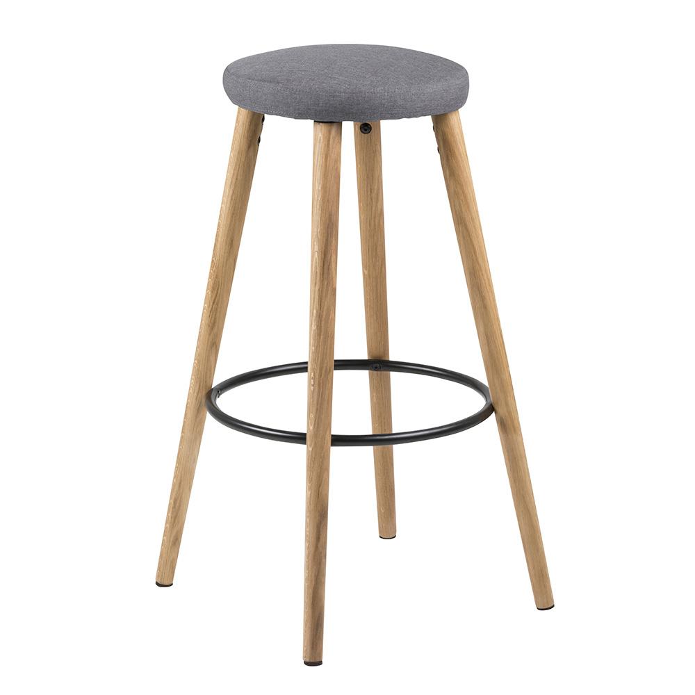 Barová židle Heros (SET 2 ks), šedá