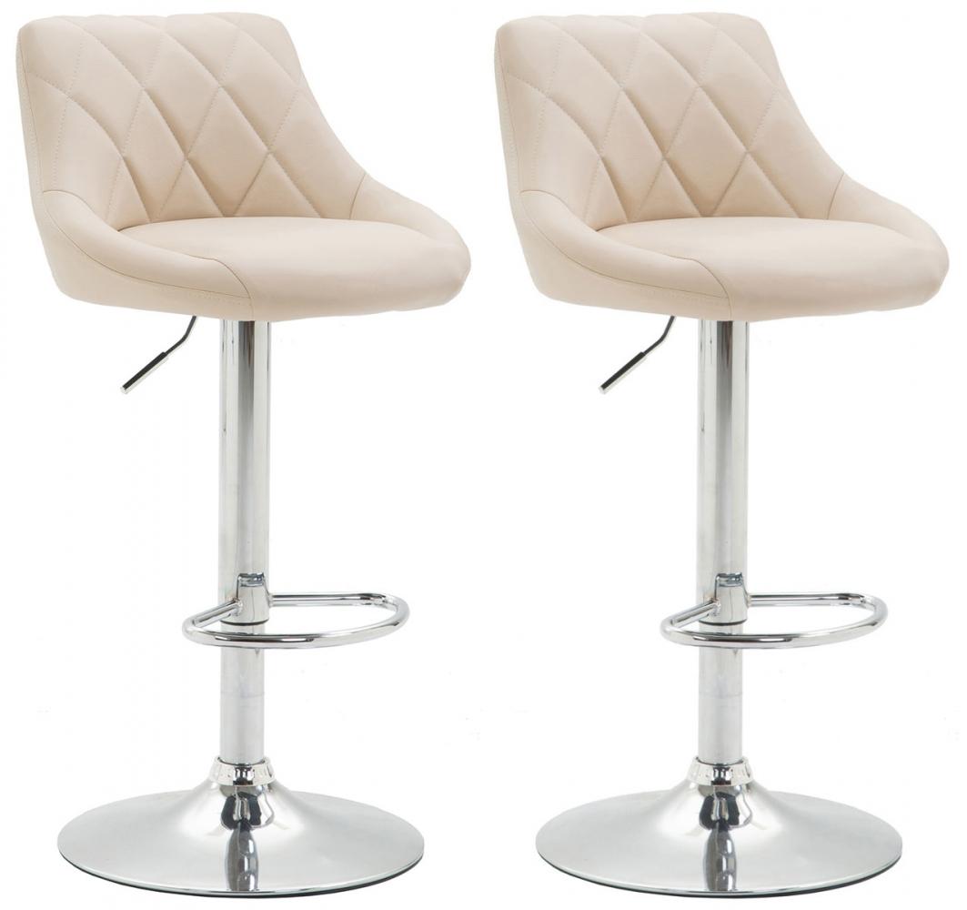 Barová židle Hural (SET 2 ks), bílá