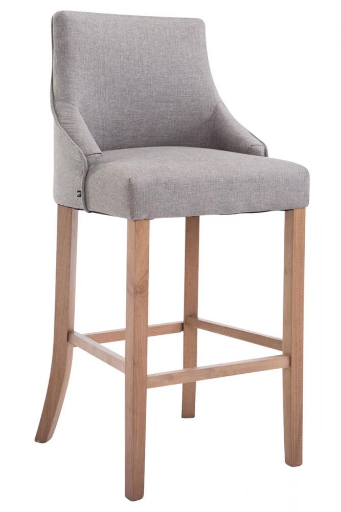 Barová židle Ina, šedá / pryžové dřevo