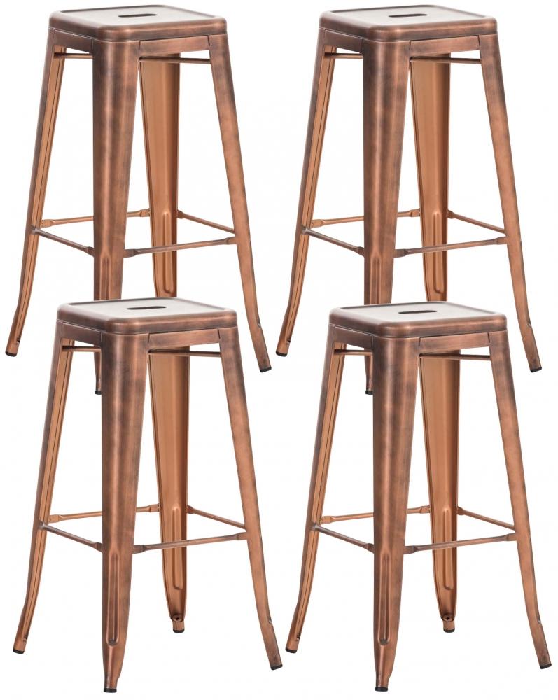 Barová židle Josh (SET 4 ks), měděná
