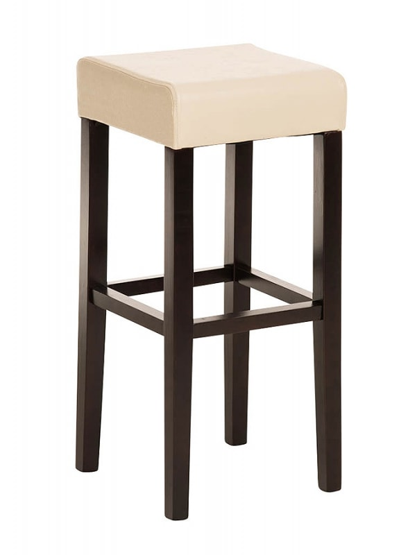Barová židle Jully (SET 2 ks), cappuccino podnož