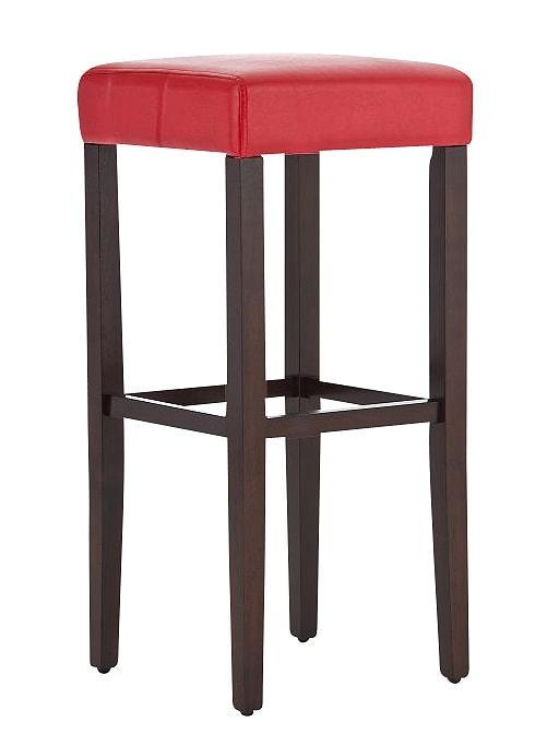 Barová židle Jully (SET 2 ks), cappuccino podnož cappuccino / červená
