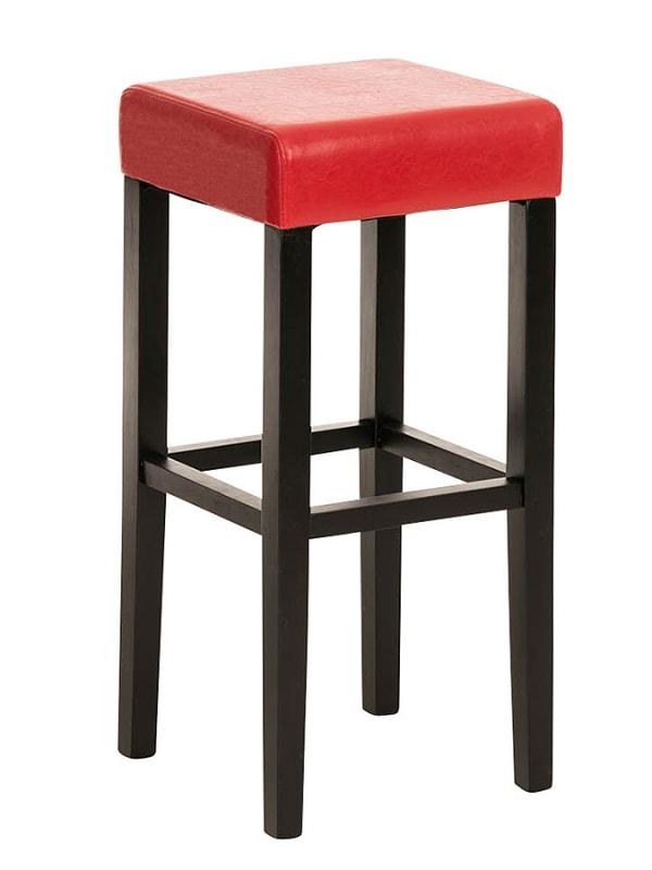 Barová židle Jully (SET 2 ks), černá podnož černá / červená
