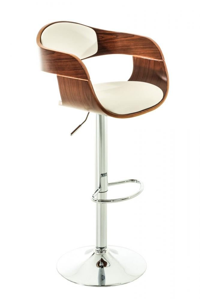 Barová židle King, bílá / ořech