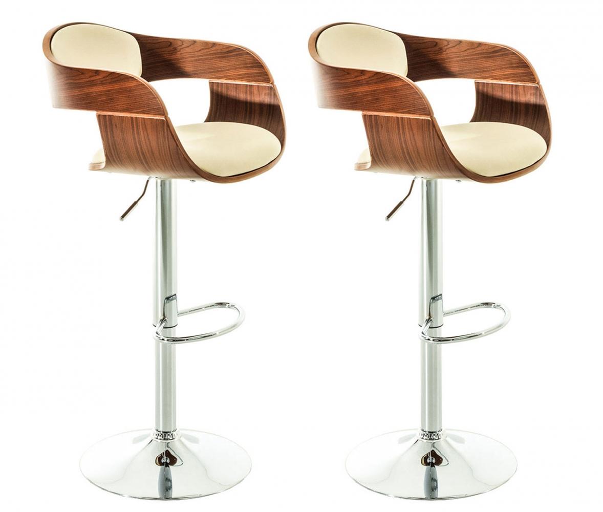 Barová židle King (SET 2 ks), krémová