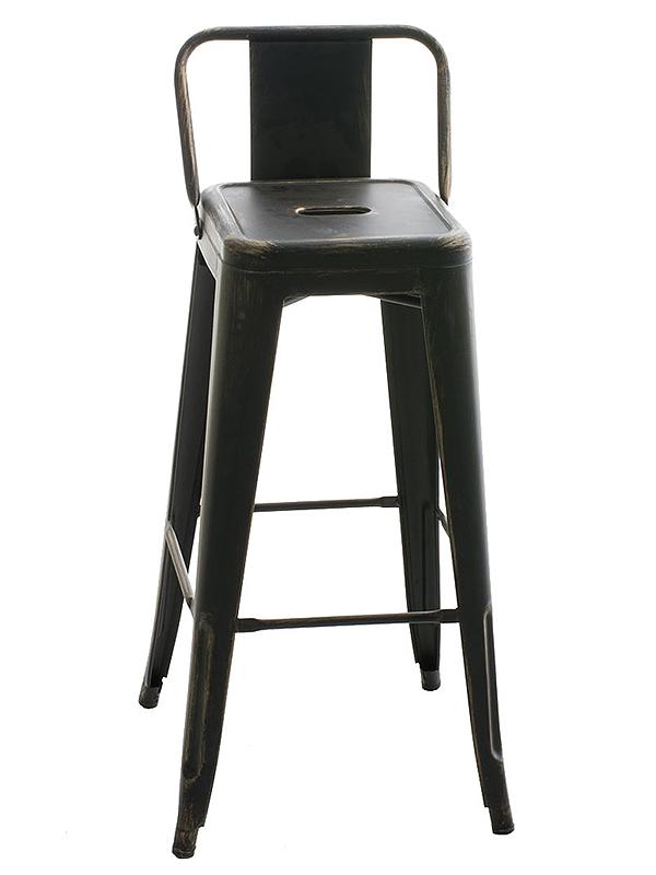 Barová židle kovová Mason, antik černá