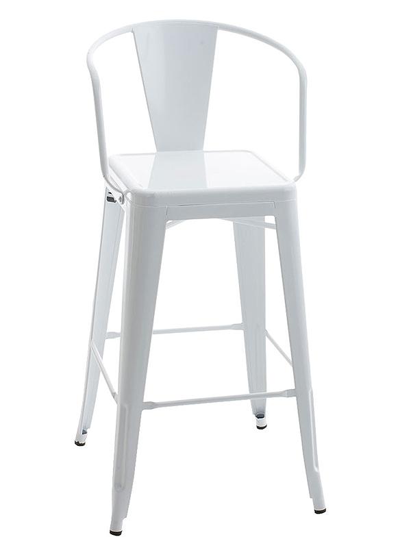 Barová židle kovová Mason L bílá