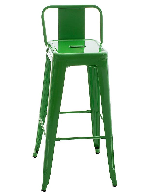 Barová židle kovová Mason, zelená