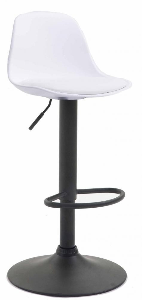 Barová židle Kyla I., syntetická kůže, bílá