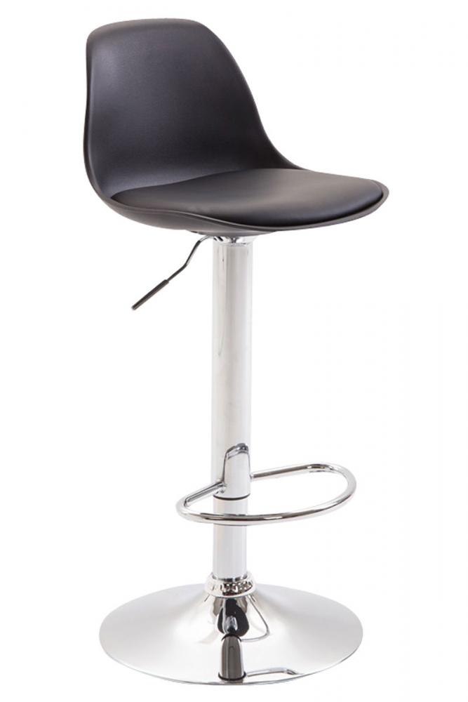 Barová židle Kyla II., syntetická kůže, černá