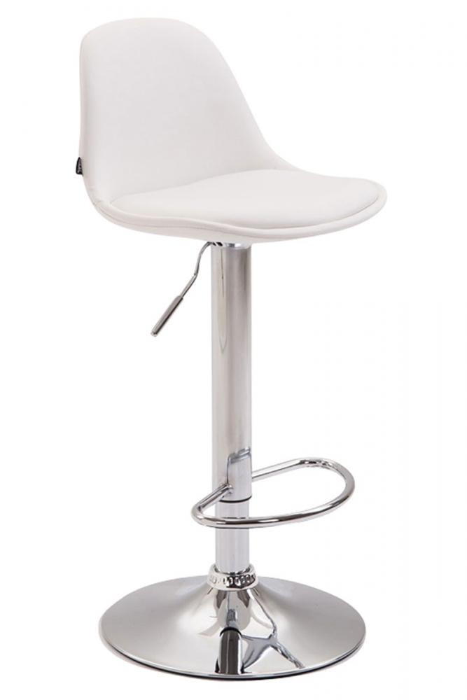 Barová židle Kyla III., syntetická kůže, bílá