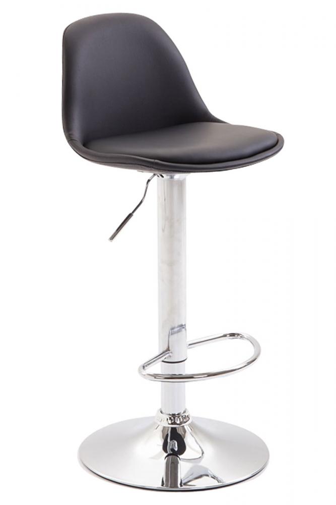 Barová židle Kyla III., syntetická kůže, černá