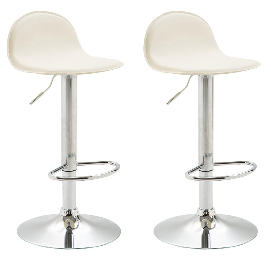 Barová židle Lane (SET 2 ks), krémová