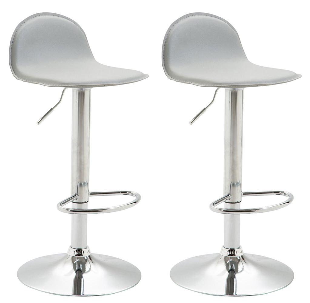 Barová židle Lane (SET 2 ks), šedá