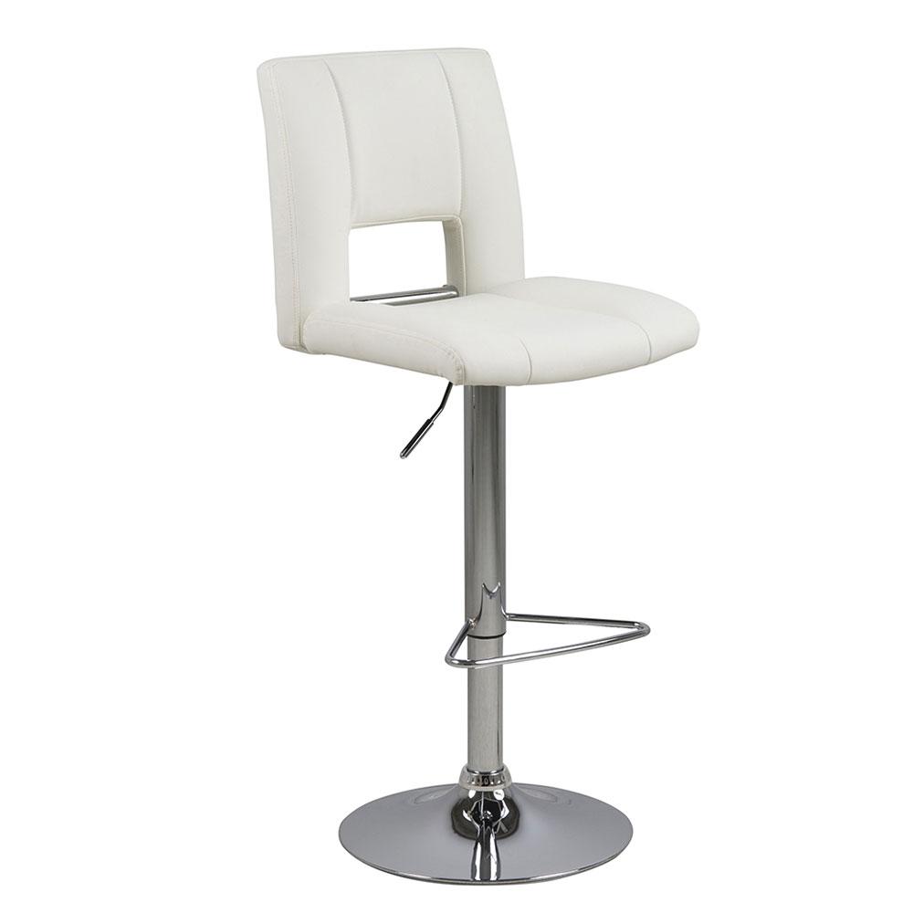Barová židle Larry (SET 2 ks), bílá