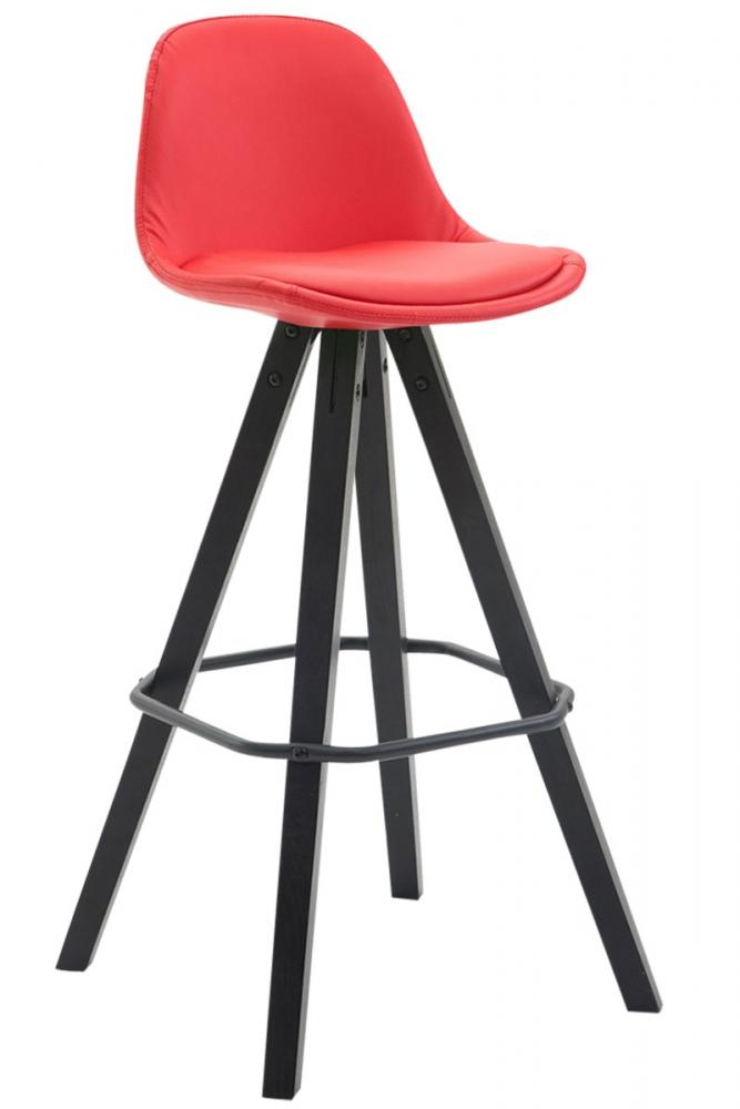 Barová židle Laura, červená / černá