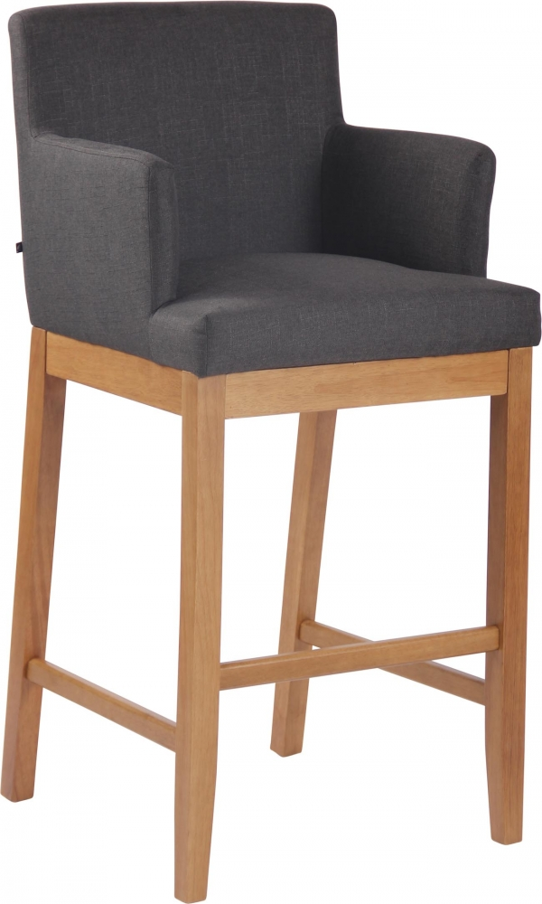 Barová židle Laura, tmavě šedá