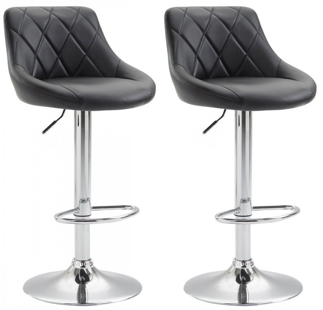 Barová židle Lazo I. (SET 2 ks), černá